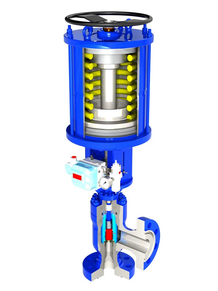 CCP Series Plug and Cage Choke Valve Pneumatic Single Acting Actuated